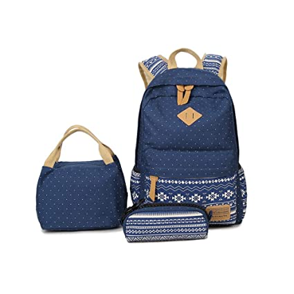 Bags Bright Canvas Backpack Travel Rucksack Adjustable Bag Boys Girls College Uni School Goods Of Every Description Are Available