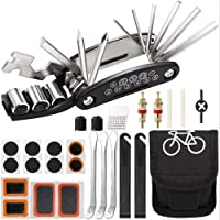 Bike Tool Kit, Puncture Repair Kit, Bike Multi Tool, Mountain Bike Accessories, 16 in 1 Bike Multifunction Tool with…