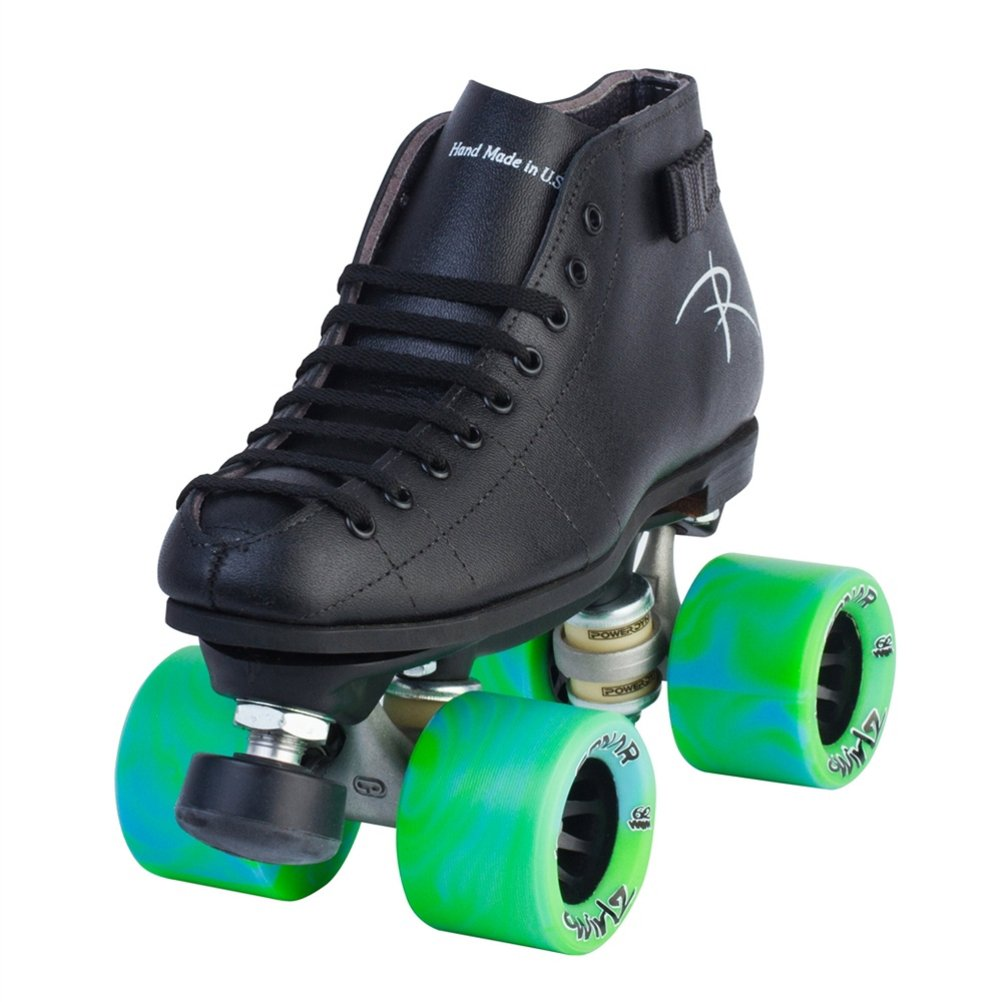 Riedell Cobalt Speed Roller Skates - 6.5/Black by Riedell