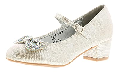 68cd78557d6f7 Princess Stardust Chelsea Girls Kids Party Shoes Silver - Silver ...