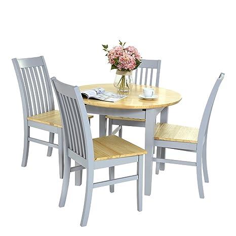 Britoniture tavolo da pranzo con sedie, 4 tavolo rotondo allungabile ...