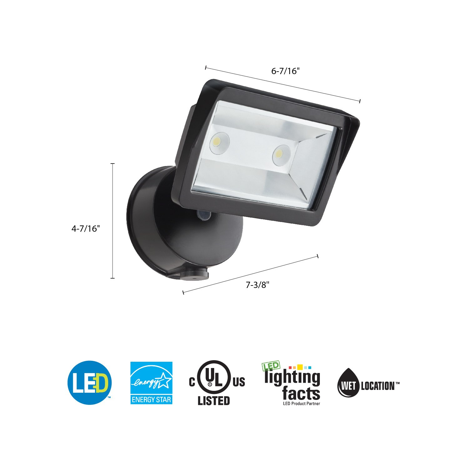 Lithonia Lighting Olfl 14 Pe Bz M4 Security Led Dusk To Dawn Wall Occupancy Sensor Wiring Diagram Free Picture Floodlight Black Bronze Flood