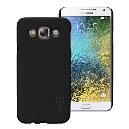 the latest a5ec7 4327c Samsung Galaxy E7 Case, CoverON [Slender Fit Series] Slim Protective Hard  Rubberized Back Cover Phone Cover for Samsung Galaxy E7 - Black