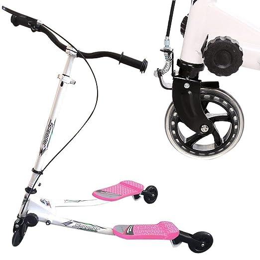 Mini Scooter Y Patinetes de Empuje con 3 Ruedas Plegable Rápido Ajustable, Monopatín Infantil Speeder Tri Empuje para Niños Niñas de Más de 5 Años, ...