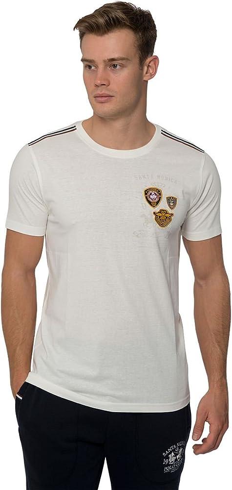 Santa Monica Polo Club Camiseta Hombre Diseño Camiseta Algodón ...