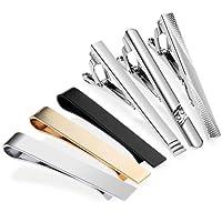 Zacro 6pcs Tie Clip Bar Pinch Necktie Premium Alloy,Suitable for Businessman