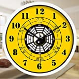 Znzbzt Simple Creative Mute Wall Clock Traditional Chinese Foot spa and Massage parlors in The Hospital Ward 医 feng Shui Decorative Wall Clock Mute Watches, 12 inch, Radi