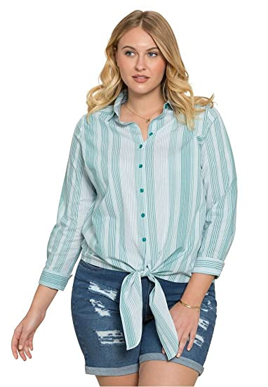 a851f5cab6d Roamans Plus Size Kate Tie-Front Shirt at Amazon Women s Clothing store