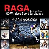 Crossbeats Raga Wireless Sport Bluetooth Earphones Headphones and Headset with Mic (Black)