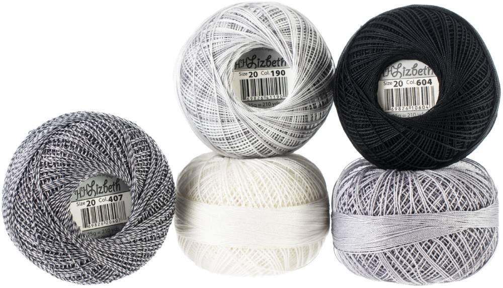 Handy Hands Lizbeth Specialty Pack Cordonnet Cotton Size 10-Gum Drop 5//Pkg