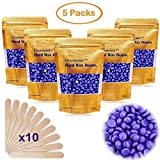 Depilatory Wax Beads - 17.5 Oz Hair Wax Beans by Charmonic, Hard Body Wax Beans, Hair Removal Depilatory Wax European Beads for Women Men 500g/17.5Oz (lavender)