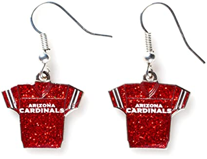 a3753a6f32ee Amazon.com   NFL Arizona Cardinals Glitter Jersey Earrings   Sports ...