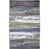 Mohawk Home Escape Abstract Shore Blue Spa Rug, 7'6x10'