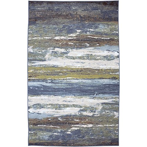Mohawk Home Escape Abstract Shore Blue Spa Rug, 7'6x10' by Mohawk Home (Image #1)