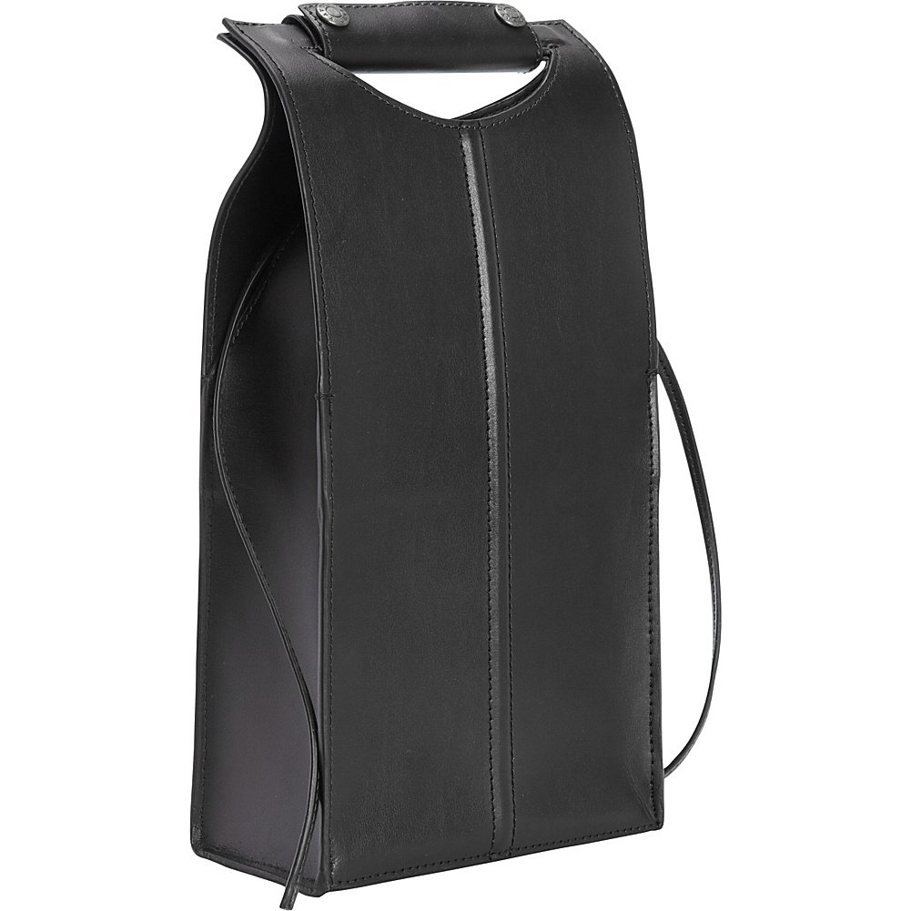 Clava Leather Two Bottle Carrier (Black)