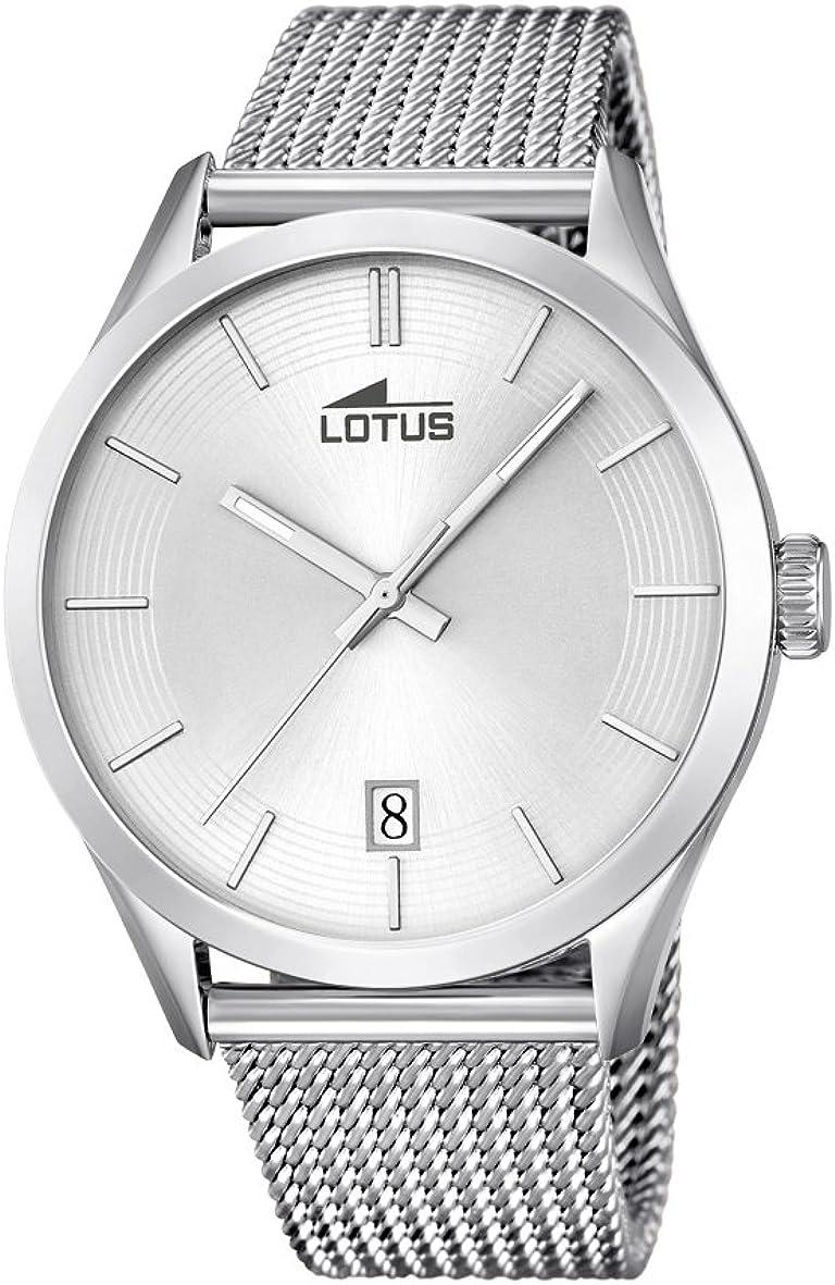 Lotus Reloj Analógico para Hombre de Cuarzo con Correa en Acero Inoxidable 18108/1