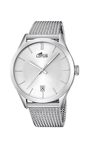 Lotus Reloj Analógico para Hombre de Cuarzo con Correa en Acero Inoxidable 18108/1: Amazon.es: Relojes