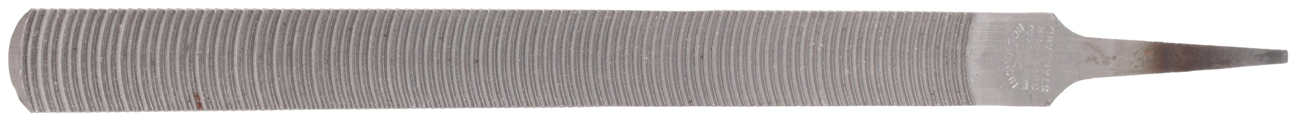 Nicholson Hand File, Standard Pattern, Curved Cut, Half-Round, 8'' Length