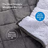 BUZIO Sherpa Fleece Weighted Blanket for