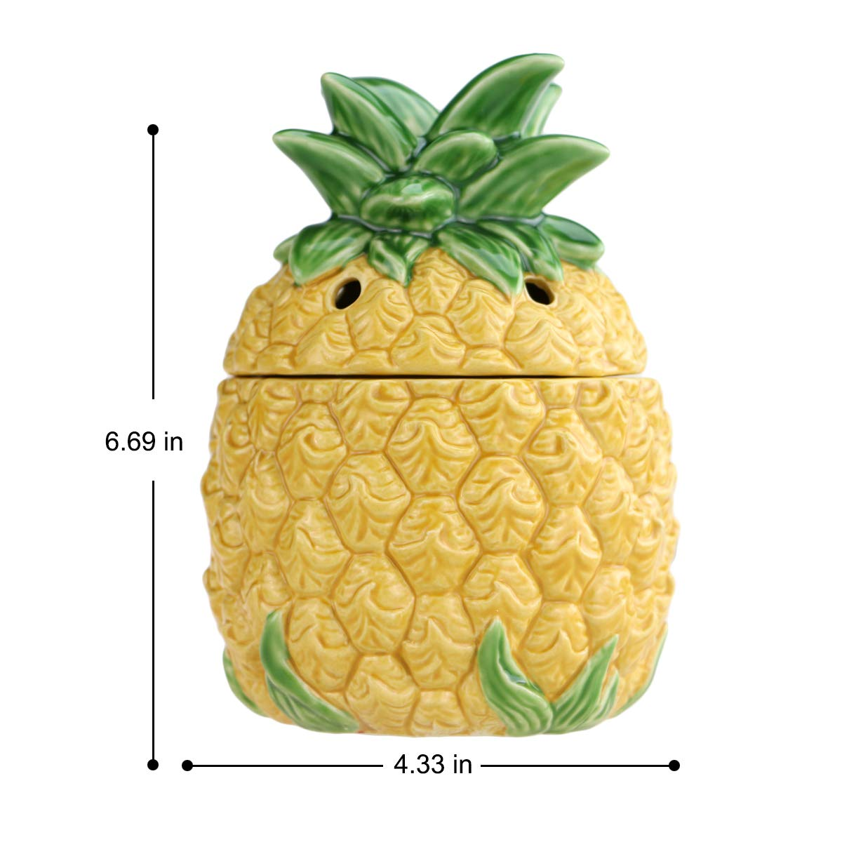 STAR MOON Wax Melt Warmer Electric, Candle Warmer for Wax Melt, Home Fragrance Diffuser, Home Décor, No Flame, with Ceramic Warming Plate (Pineapple) by STAR MOON (Image #6)