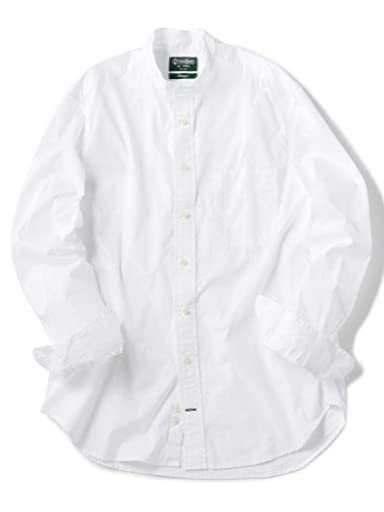 Oxford Band Collar Shirt 111-11-4081: White