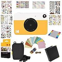 Kodak Printomatic Instant Camera Gift Bundle + ZINK Paper (20 Sheets) + 9 Unique Colorful Sticker Sets + Case + Markers + Hanging Frames + Photo Album + Accessories