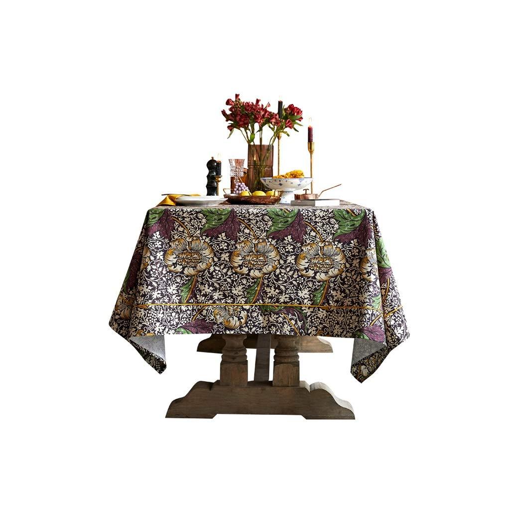 Gquan テーブルクロス100%綿プリントテーブルクロス30°水温清潔で低温アイロンがけサイズ4オプションのキッチンレストランパーティーピクニック屋内屋外用 (Size : 160*160cm) 160*160cm  B07SK5XNR4