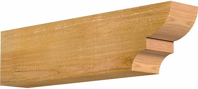 4 Width by 10 Height by 12 Length Ekena Millwork RFT04X10X12NEW00RWR Newport Rough Sawn Rafter Tail Western Red Cedar