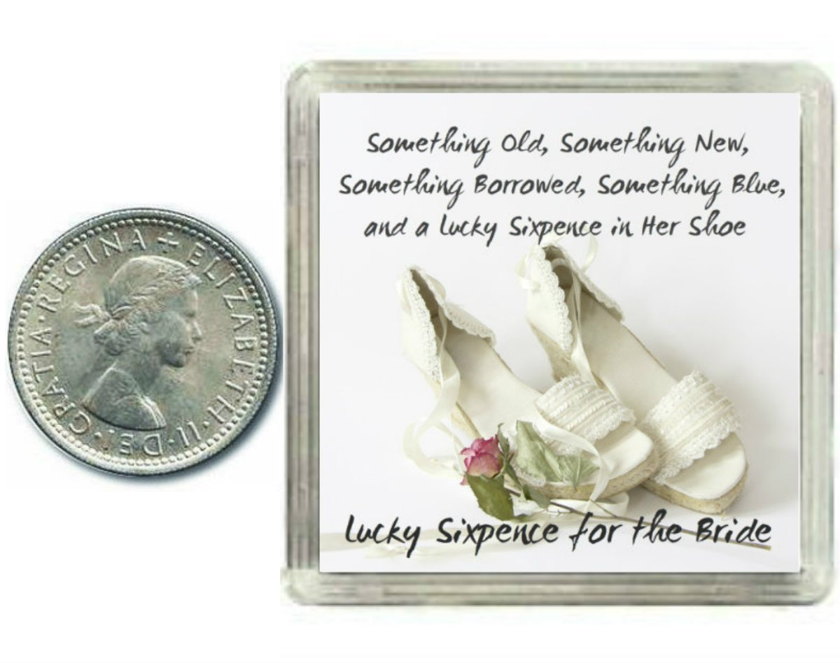 Lucky Silver Sixpence For The Bride To Be Coin For Wedding Day Shoe