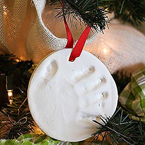 Easytoy Baby Soft Clay Handprint Footprint Keepsake Kit DIY Casting Fingerprint Ink Pad