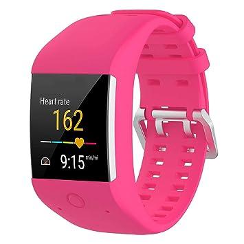 KOBWA - Correa de repuesto para relojes Polar M600, talla única, color rosa (