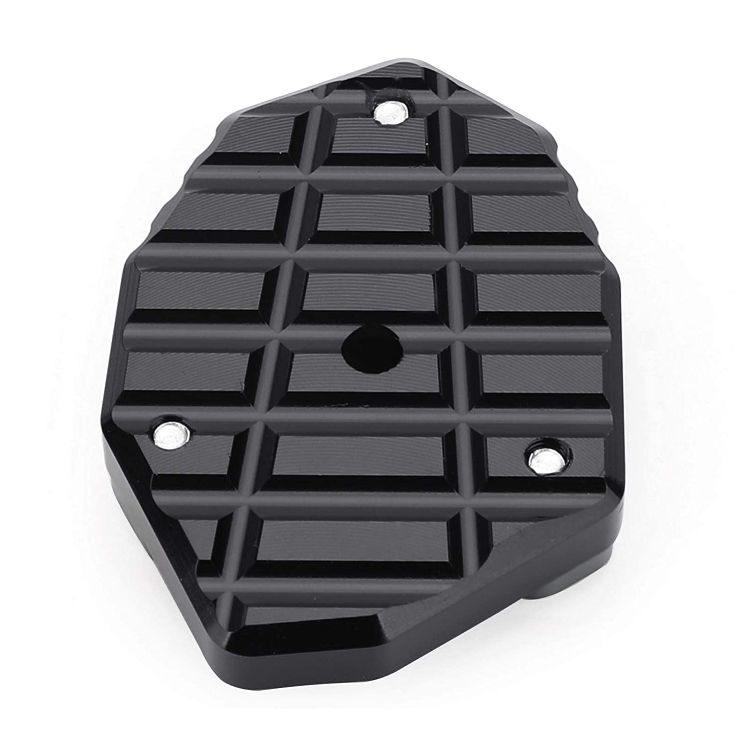 Artudatech Estensione Cavalletto Moto Pad Cavalletto Moto Ingranditore del Cavalletto Pad di Estensione del Supporto Laterale Cavalletto per SUZU-KI DL650 V-STROM 650 12-19