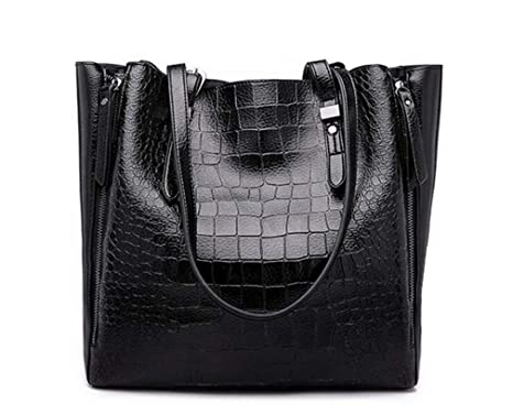 Amazon.com: Women Leather Totes Luxury Handbag Designer NEW Shoudler Bag Casual Woman Bags Business Hobos Carteras black: Clothing