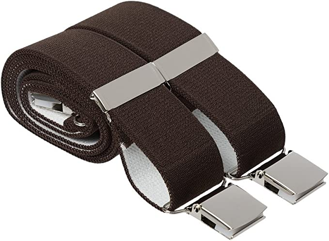 Made In England Mens 35mm High Quality Heavy Duty Adjustable Braces Suspenders