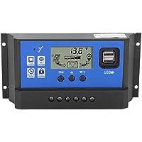 Controlador de cargador solar de 12V/24V Regulador inteligente de batería de panel solar con puerto USB dual(RBL-40A)
