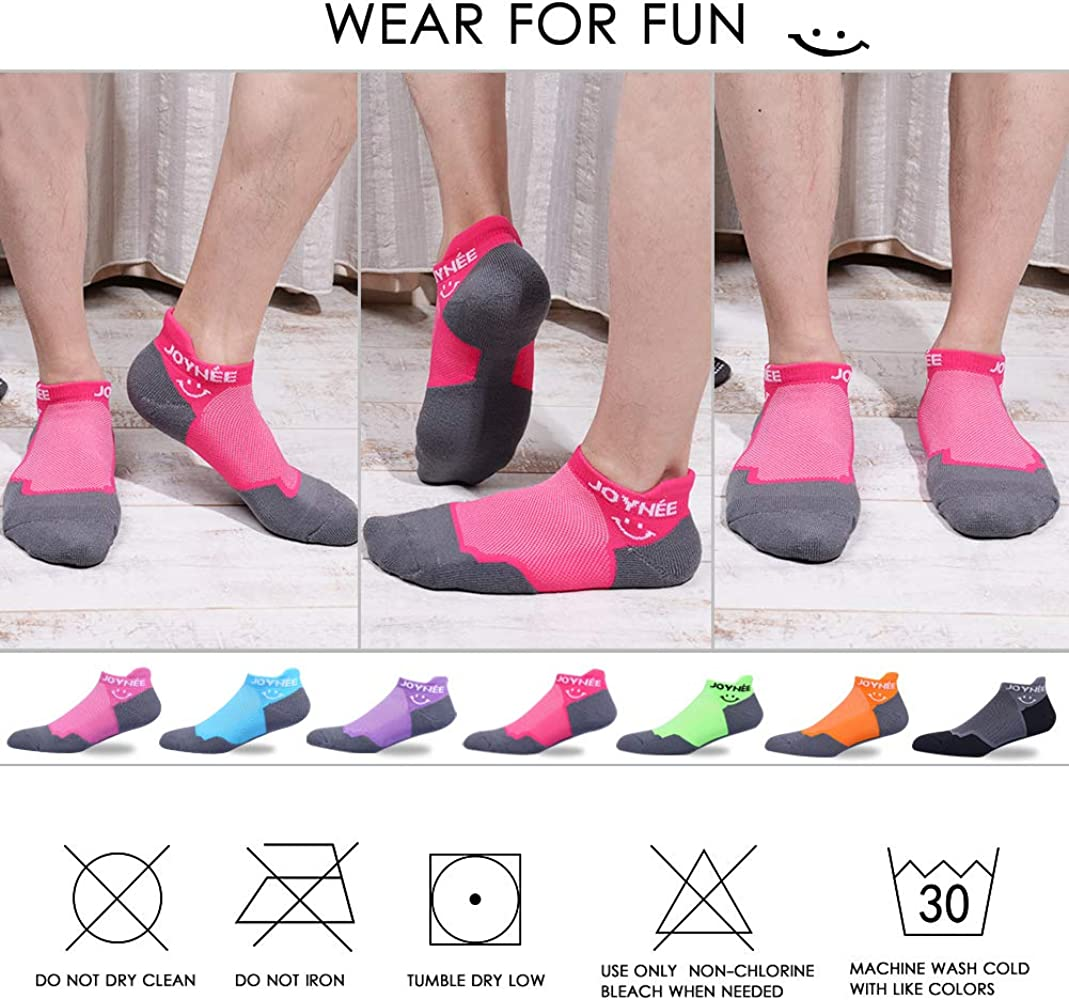 JOYN/ÉE Ultralight Ankle Athletic Running Socks Low Cut Sports Cushion Socks with Heel Tab for Men and Women