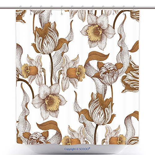 Antibacterial Shower Curtains The Art And Pattern Of Carving Silverware 390897367 Polyester Bathroom Shower Curtain Set With Hooks