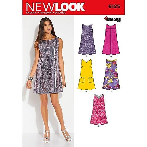 New Look Ladies Easy Sewing Pattern 6372 Halter Neck Dresses in 2 ...