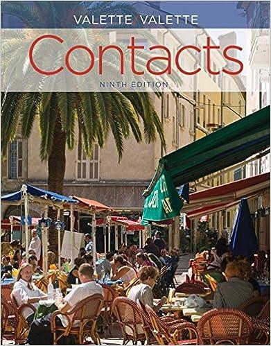 Amazon Com Sam Answer Key With Audio Script For Valette Valette S Contacts Langue Et Culture Francaises 9th 9781285050409 Valette Jean Paul Valette Rebecca M Books