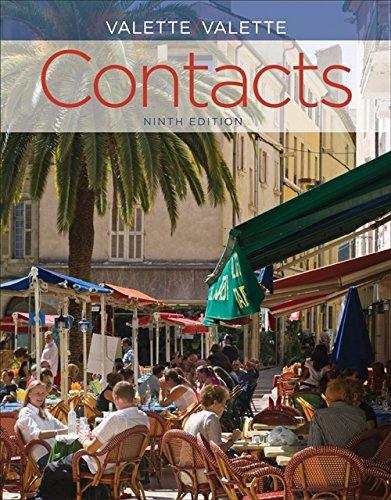 (SAM Answer Key with Audio Script for Valette/Valette's Contacts: Langue et culture françaises, 9th)
