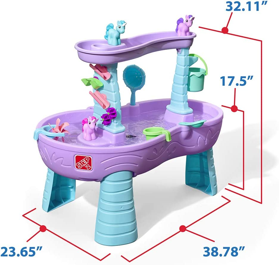 Step2 Rain Showers Unicorns Water Table with 13-Pc  Accessory Set