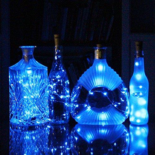 Cosoon set of 6 wine bottle cork lights copper string for Wine bottle night light diy