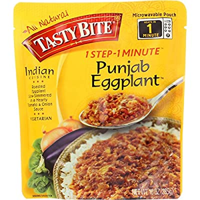 Tasty Bite Entree - Indian Cuisine - Punjab Eggplant - 10 oz - case of 6 - Gluten Free -