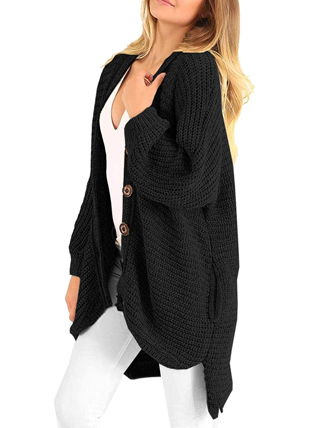 Buy Imysty Womens Winter Oversized Sweater Cardigans Button