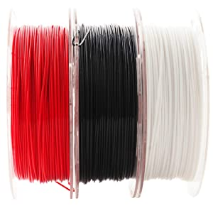3D Printer PLA Filament Bundle, 1.75mm+/- 0.03mm, Widely Compatible, 3 Spools Pack, 0.5kgs 1.1 lbs/Spool, Total 1.5kgs Material, with One 3D Print Remove Or Stick Tool (Pack of 4) by Mika3D