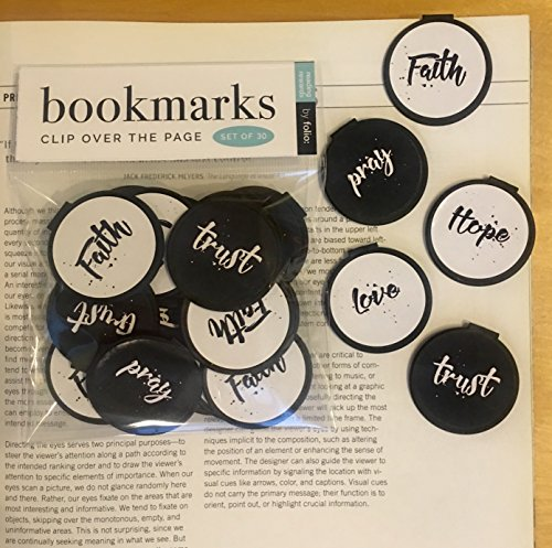 - Inspirational Bookmarks (Set of 30) Faith, Pray, Trust, Hope, Love Assortment
