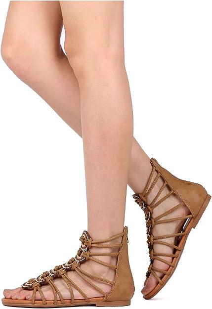 offer discounts coupon code official photos Amazon.com   Vigo Fiore Women Leatherette Open Toe Rhinestone ...