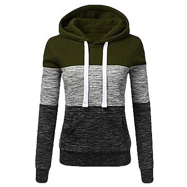 709eabc53226 TOPKEAL Hoodie Pullover Damen Herbst Winter Kapuzenpullover Sweatshirt  Lässige Winterpullover Patchwork Jacke Mantel Tops Mode 2018