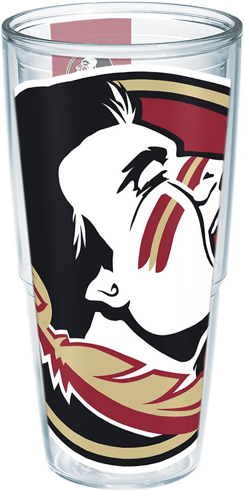 Tervis 1146707 Florida State University Colossal Wrap Individual Tumbler, 24 oz, Clear