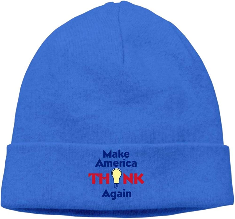 Make America Think Again Stocking Cap Cgi03T-2 Thick Knit Cap for Mens and Womens